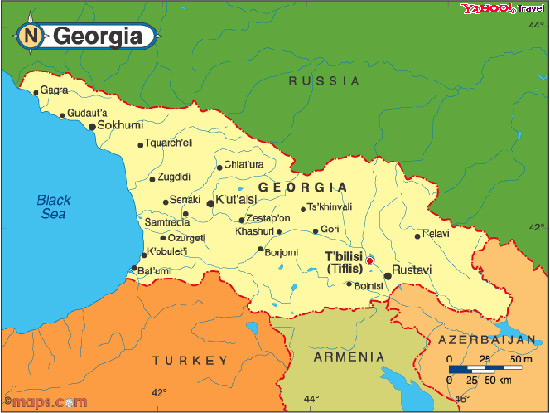 GEORGIA Caucasus - GEORGIAs MAP GEORGIAN MAP